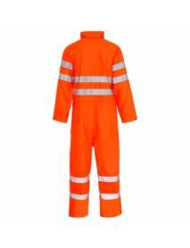 High Vis Orange Storm-Flex PU Coverall