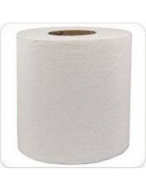 150m White Embossed 2 Ply Centre Feed Rolls (6)