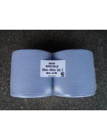 Jumbo Roll (Wiper Roll) (2 Ply) (Blue) (400m x 28cm)