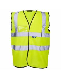 High Vis Yellow Vest - with ID Pocket