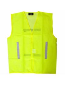 High Vis Yellow Mesh Vest