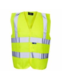 High Vis Yellow Builders Vest