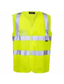 High Vis Yellow Pull Apart Vest - ID Pocket