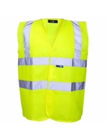 High Vis Yellow Vest - Yellow Binding