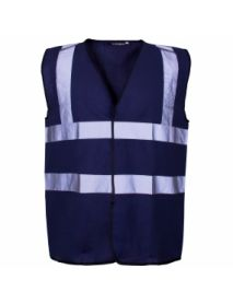 High Vis Coloured Vest - Navy