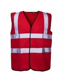 High Vis Coloured Vest - Red