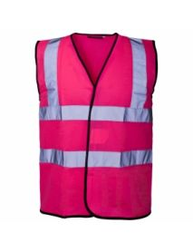 High Vis Coloured Vest - Pink