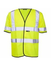 High Vis Yellow Short Sleeved Vest