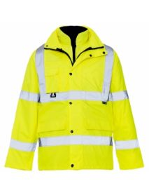 High Vis Yellow Breathable 4 in 1 Parka Jacket