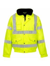 High Vis Yellow Storm-Flex Bomber Jacket