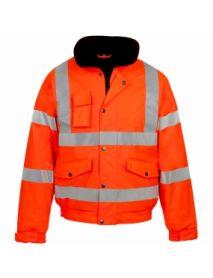 High Vis Orange Storm-Flex Bomber Jacket