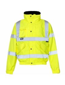 High Vis Yellow Breathable 2 in 1 Bomber Jacket