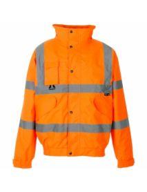 High Vis Orange Breathable 2 in 1 Bomber Jacket