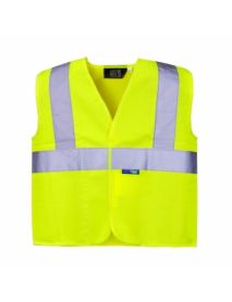 High Vis Yellow Junior Vest - aged 7-9 years