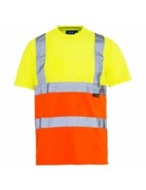 High Vis 2 Tone T-Shirt - Yellow top / Orange bottom