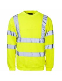 High Vis Yellow Crew Neck SweatShirt