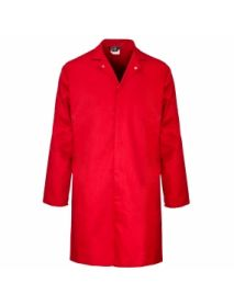 Polycotton Food Coat Inner Pocket - Red