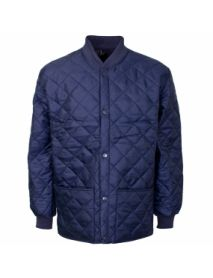 Quilted Shell Jacket - Navy Blue