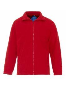 Basic Fleece Jacket - Red