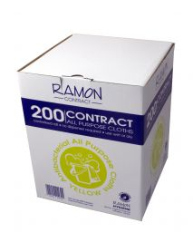 Yellow Boxed Roll All Purpose Cloth (200)