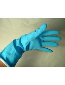 Blue  Rubber Gloves Medium  (12 Pairs )