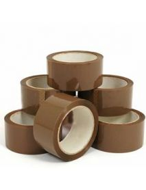 Brown Tape (48mm x 66m)  (Acrylic/Polyprop)( 6 )