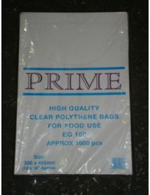 12 x 18 Clear Poly Bag ( 100g)