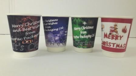 printed xmas cups