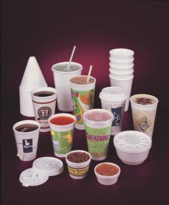 Printed polystyrene cups